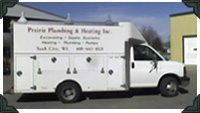 Current Prairie Plumbing and Heating Truck