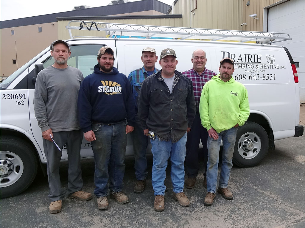 Excavating Division: (L-R) Roy, Derek, Chad, Dennis, Bob